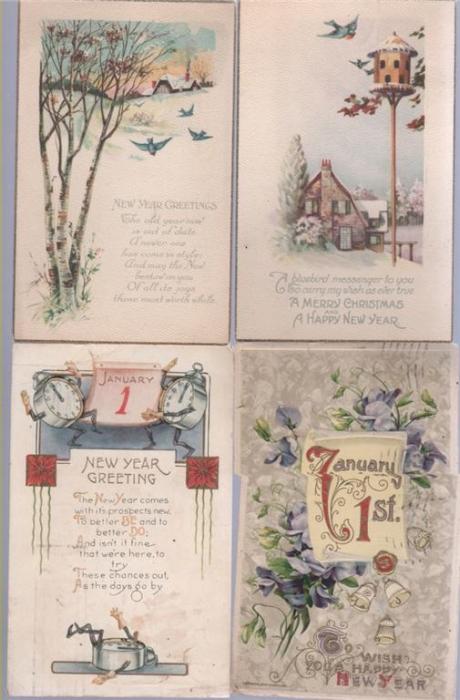Новогодняя поздравительная открытка