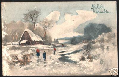 Рождественская поздравительная открытка