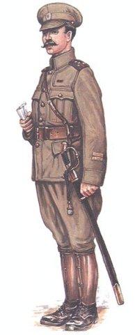 Штабс - Капитан, в униформе британского образца, со знаками различия по приказу ВУСО 1918 г.