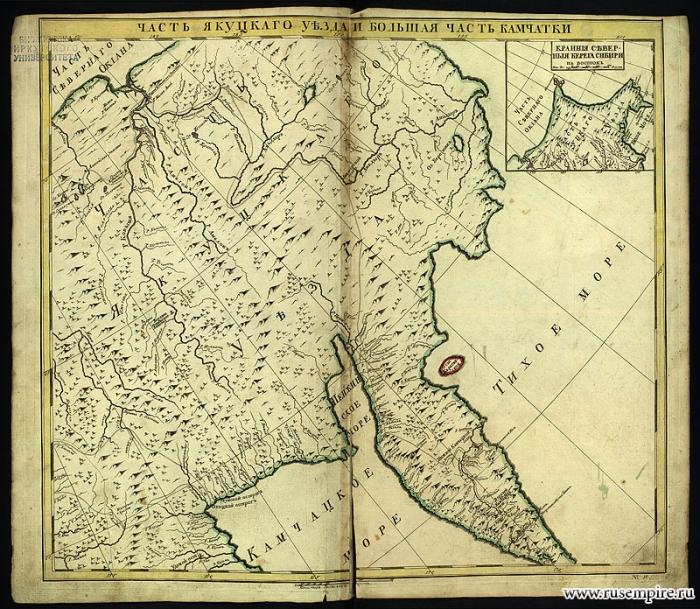 Часть Якутского уезда и большая часть Камчатки
