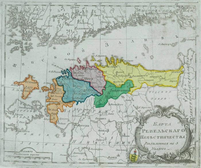 Карта Ревельского наместничества