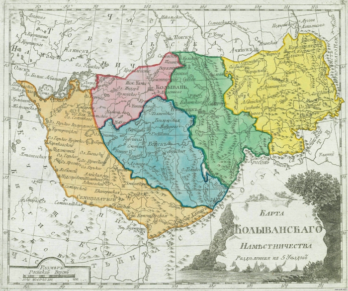 Карта Колыванского наместничества