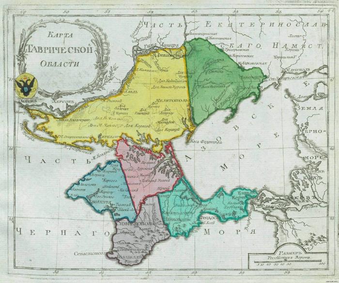 Карта Таврической области