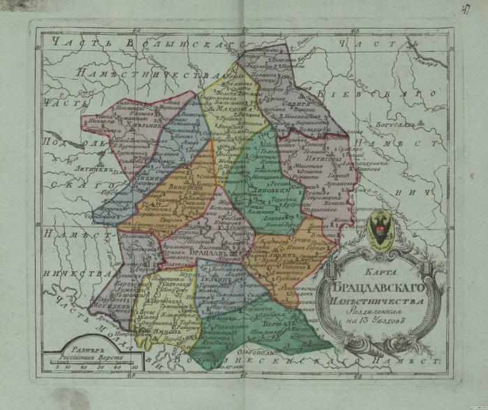 Карта Брацлавского наместничества