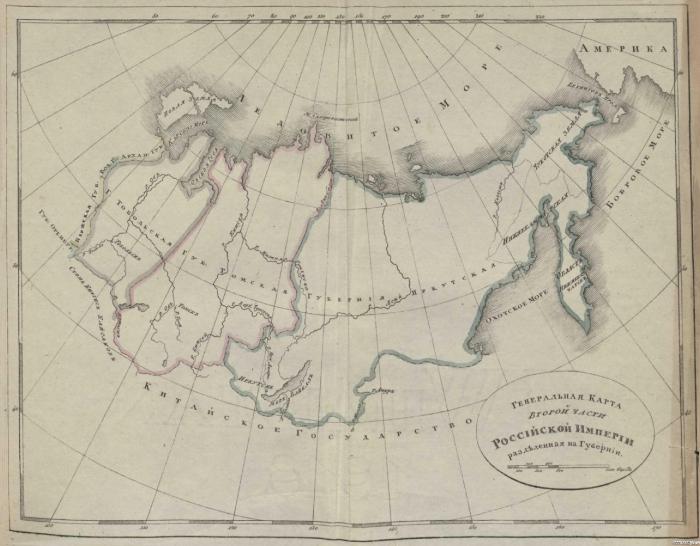 Генеральная карта второй части Российской империи