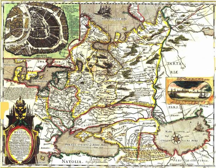 Карта Российского государства (1613 год)