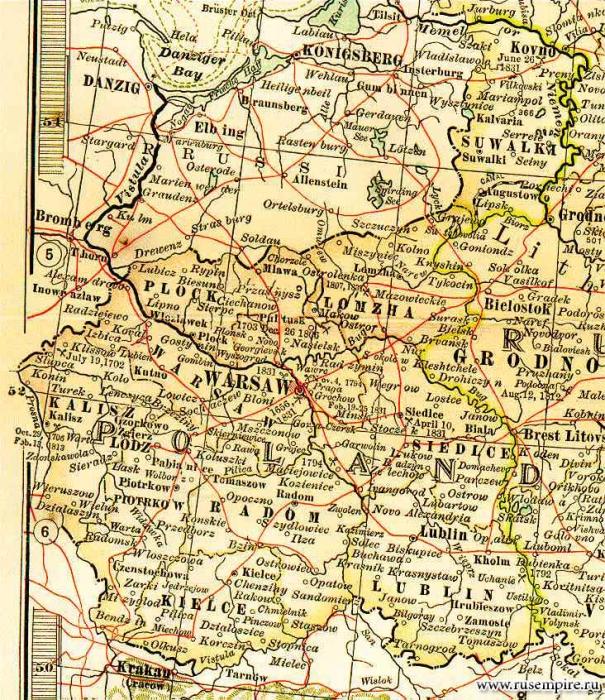 Польские области России