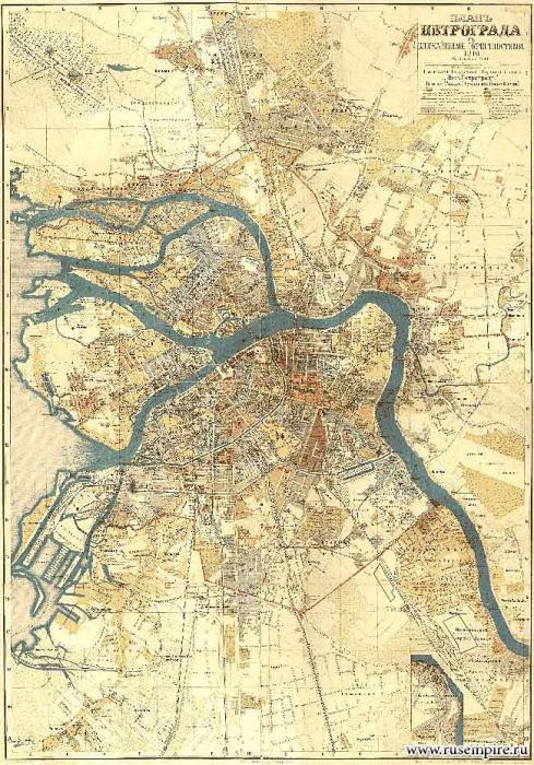 План Петрограда (1916 год)