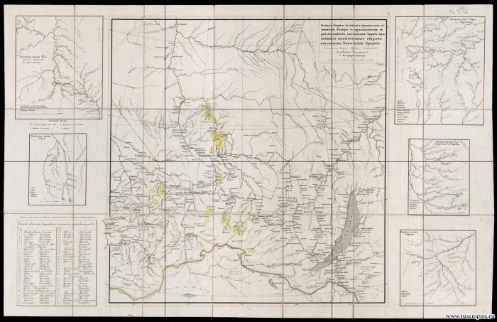 Общая карта золотоносных промыслов Восточной Сибири