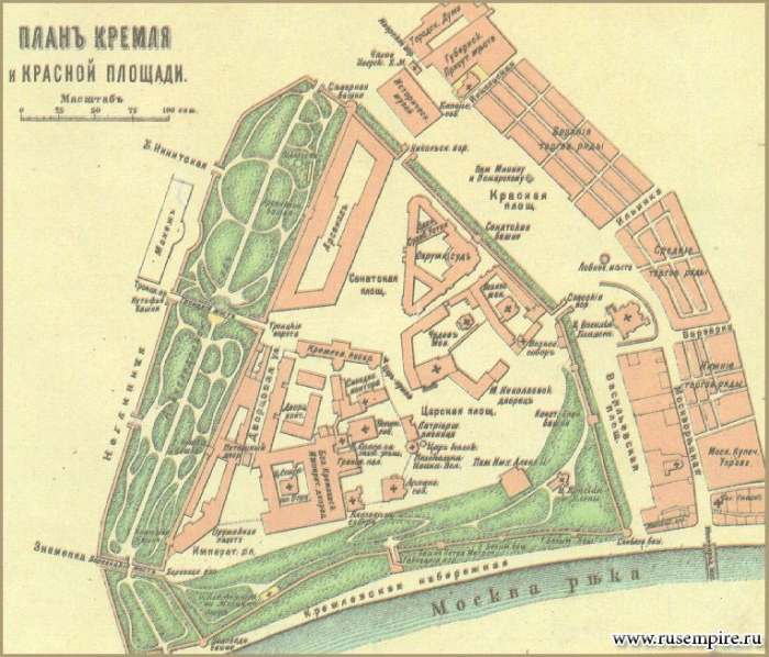 План Кремля и Красной площади (1907 год)