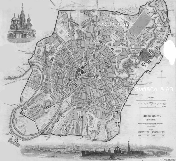 План Москвы 1810 года