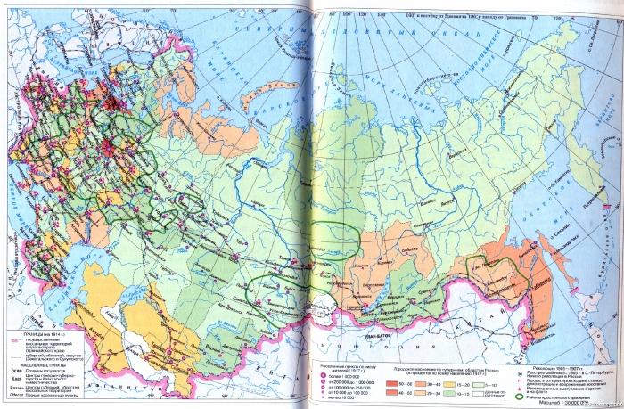 Российская Империя в начале XX века.