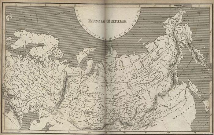 Карта Российской Империи (1820 год)