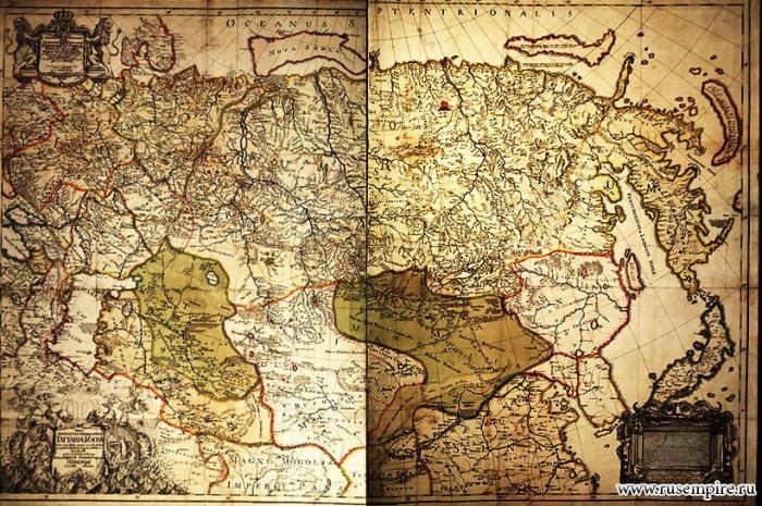 Карта Российской Империи (1725 год)