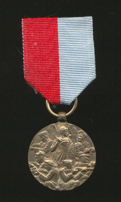 Медаль Северной Добровольческой армии генерала Миллера «За освобождение Северной области от большевиков» (реверс)