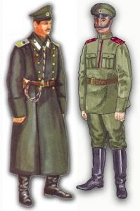 Офицер и нижний чин 25-го Екатеринбургского полка горных стрелков