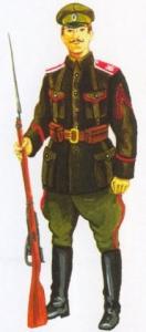 Рядовой 1-го Волжского генерала Каппеля стрелкового полка (Дальневосточная армия), 1920 - 1921 гг.