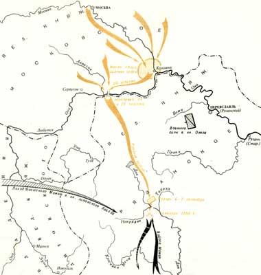 Куликовская битва. Путь к полю боя и схема разгрома татарских войск Мамая