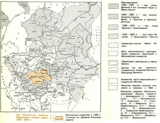 Рост Московского княжестве и объединение русских земель а 1300- 1462 гг.