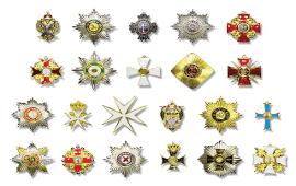 Медаль «За храбрость» (арабскими буквами)